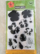 Hero Arts Clear Acrylic Stamp  Layering Hibiscus Flower Set CL868 NEW