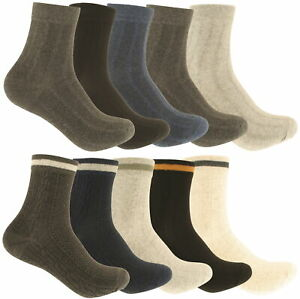 Zest Mens 5 Pairs of Combed Cotton Socks UK Size 7-9