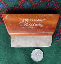 Vintage paper cleaner E Wolff & Son wood rubber pencil eraser antique stationery