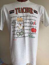 TEACHER Definitions T Shirt XL Fruit Of The Loom Cotton Blend Graphic Tee School