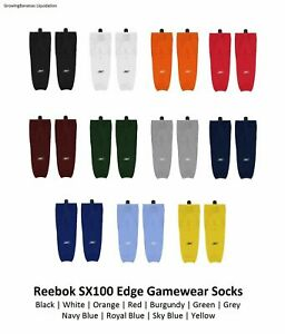 "Reebok RBK SX100 Edge Gamewear Hockey Socks! Color Choices SR CCM Sock 24"" JR"