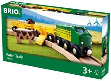 Brio Farm Animal Toy Train - Made with European Beech Wood - FREE US SHIPPING