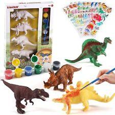 Neowows Decorate Your Own Dinosaur Figurines Diy Dinosaur Arts Crafts 3D Toys
