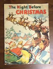 THE NIGHT BEFORE CHRISTMAS  Vintage Picture book 1941 Ethel Hays Saalfield