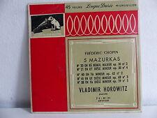 CHOPIN 5 mazurkas VLADIMIR HOROWITZ 7E RF 101