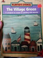 The Village Green FolkArt Painter's Stencil Decorative Painting Book