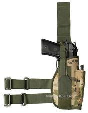 tactique Pistolet MULTICAM MTP Étui S'adapte à tout tombant JAMBE