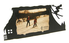 "Skier Snow Ski Down Hill Picture Frame 3.5""x5"" - 3""x5"" H"