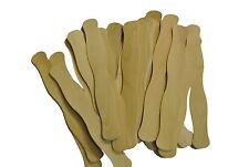"Wavy Wood Fan Handles 8"" Wavy Stirring Sticks Wooden 25 count"