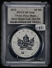 2012 CANADA 1 oz SILVER CANADIAN MAPLE LEAF - TITANIC PRIVY *PCGS SP GEM* #Y351