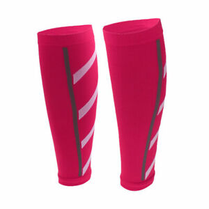 Fuschia Calf Compression Sleeve Leg Support Socks Running Athletic Shin Splint