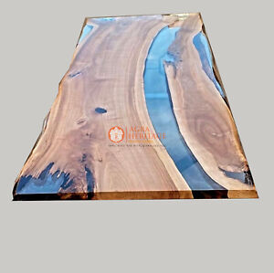 Epoxy Acacia Clear Resin Table epoxy coffee table, epoxy river dining table Deco