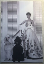 Movie Postcard ~ Audrey Hepburn dressed up with poodles