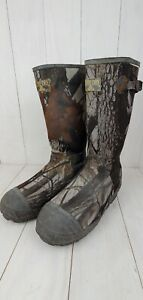 RedHead Bone Dry Rubber Boots Camo Mens Sz 10 Thinsulate 1000 Realtree Hardwoods