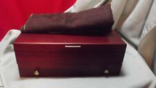 New listing New Vintage McGraw Sterling Silver Flatware Wooden Storage Box Chest w/Drawer