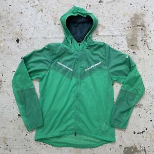 Lime Green Nike Hooded Running Jacket Mens M