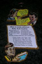 Baby Ruth Recipe Ad ~ Glitter Christmas Seasonal Ornament ~ Vintage Image