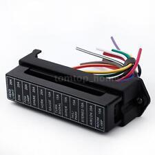 Circuit Car Trailer Auto Blade Fuse Box Block Holder 2-input 12-ouput Wire B6M4