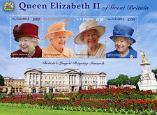 Gambia 2015 MNH Queen Elizabeth II Longest Reign Monarch 4v M/S Royalty Stamps