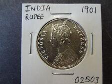 INDIA 1901 SILVER RUPEE, CRISP CHOICE UNC ++ !