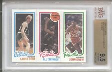 1980-81 Topps Larry Bird Rookie RC, Bill Cartwright, Drew = 10 GEM MINT BVG 9.5