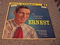 "Ernest Tubb ""The Importance of Being Ernest"" DECCA LP DL 78834 WORIG. INNER SLEE"
