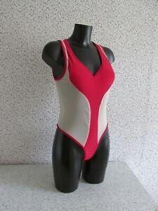 rot String Badeanzug Gr. XL(L) mit Netzeinsatz