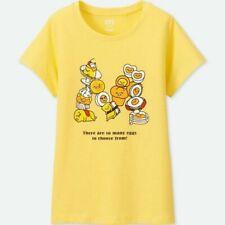 Uniqlo Sanrio Characters Short Sleeve Graphic T-shirt Yellow Gudetama 5-6Yrs