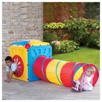 Starplast Playhouse Activity Cube With Tunnel Kids Toy Game Garden Indoor Fun
