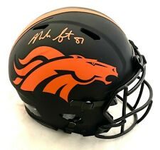 NOAH FANT SIGNED BRONCOS FS ECLIPSE SPEED AUTHENTIC HELMET BECKETT #WE86530