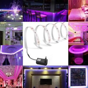 5M LED Stripe 3528 SMD Leiste Streifen Band Licht Leuchte Lila Lichterkette IP65