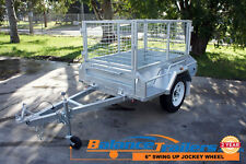 5x3 Hot Dip Galvanised Full Welded Tipper Box Trailer With 600mm Removable Cage
