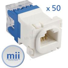 50 x CLIPSAL COMPATIBLE CAT6 RJ45 8P8C Data Inserts Jacks Mech Socket Mechanism