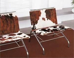 Exceptional Cowskin Lounge Chair,Cocktail Chair, Loft Armchair Brown-White