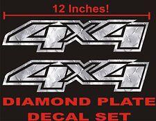 4x4 Truck Decals Diamond Plate (Set) for Chevrolet Silverado CHEVY 4WD