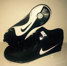 NEW NIKE AIR MVP Pro Low Metal Baseball Cleats Shoes Black White Men's US 7