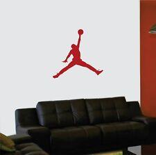 "MICHAEL JORDAN JUMPMAN Basketball Wall Decal Sticker Sports Decor 23""W X 22""H"