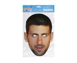 Novak Djokovic Single 2D Card Party Face Mask - Tennis Star Wimbledon