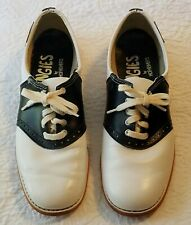 Women's Vintage Leather Saddle Oxford Shoes Grungies by Hofheimer's Size 8.5