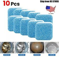 Finally Fresh Washing Machine Cleaner 10 Tablets, White Count powder