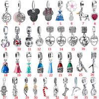 European Pendant Charms Bead Dangle Fit 925 Silver Sterling Bracelets Necklace