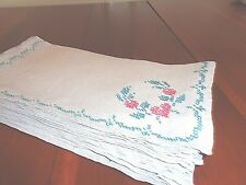 Collection of 12 matching 100% linen napkins hand made