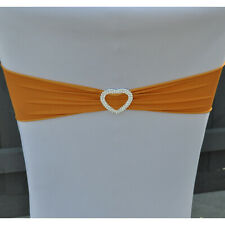 100 Lycra Orange Band Stretch Chair Cover Sash for Wedding Party Seat Decoration
