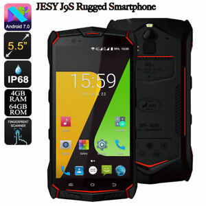 "JESY J9s IP68 Waterproof Rugged 4G Smartphone 4GB 64GB 5.5""NFC Android 7.0 Phone"