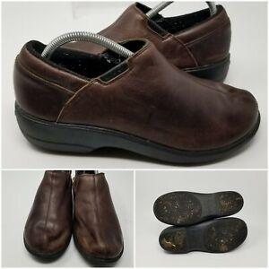 Crocs Brown Leather Mule Clog Slip On Low Walking Shoes Sneaker Women Size 10 W
