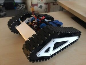100% 3D Printed Speed Tank Roller chassis (Thingiverse) (BLACK) RC TANK