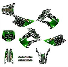KX85 KX100 graphics for Kawasaki 2001 - 2013 NO2500-Green Free Customization