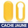 Cache JAUNE pour Coque Boitier de Clé Plip Télécommande Fiat 500 • Abarth • Evo
