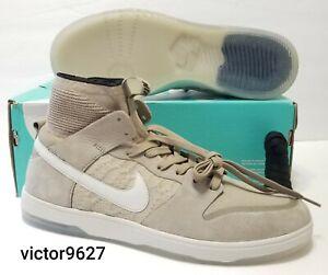 Size 10.5 Nike SB Zoom Dunk High Elite Khaki Skateboard BOX DAMAGED 917567-200