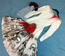 Vampire Day of the Dead corpse bride wedding dress COSTUME Halloween unique OOAK